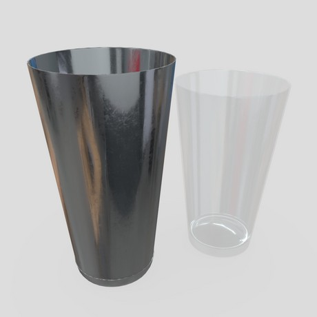 Cocktail Shaker Open 3 - low poly PBR 3d model