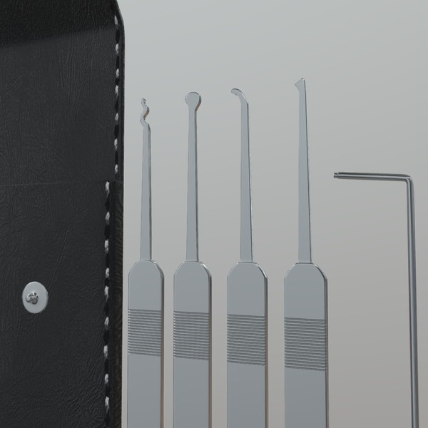 Lock Pick - low poly PBR 3d model