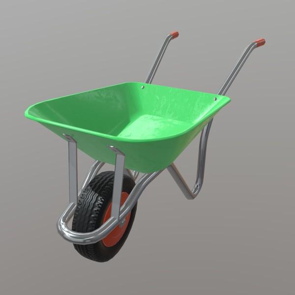 Wheelbarrow - PBR 3D Model