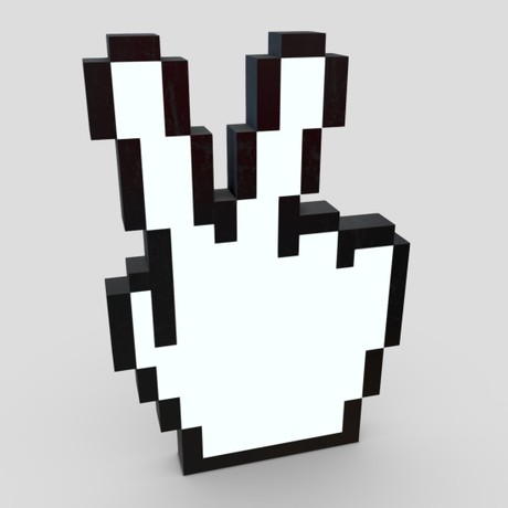 Cursor Hand 7 - low poly PBR 3d model