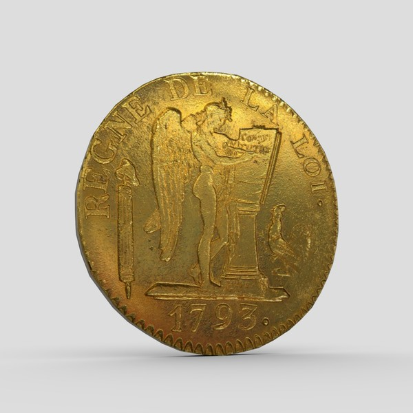 Gold Coin - low poly PBR 3d model
