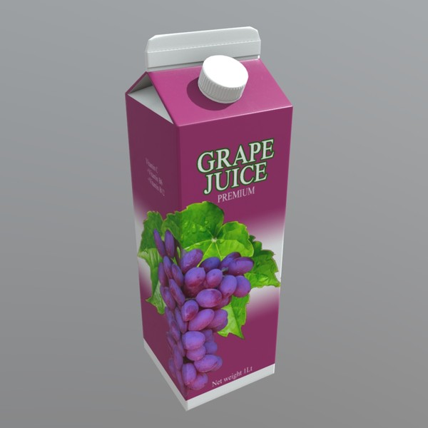 Grape Juice - low poly PBR 3d model