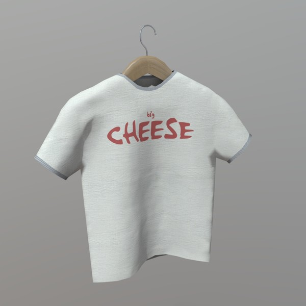 Shirt on Hanger - low poly PBR 3d model