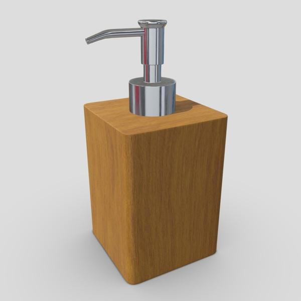 Soap Dispenser 5 - low poly PBR 3d model
