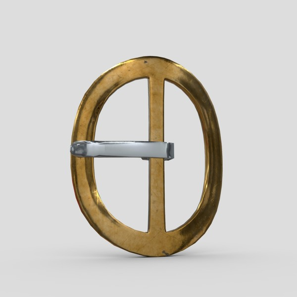 Buckle 5 - low poly PBR 3d model