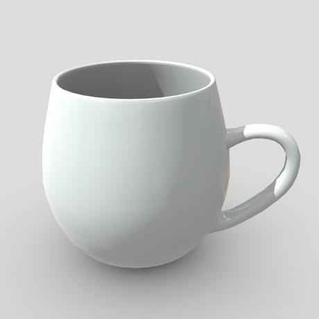 Mug 4 - low poly PBR 3d model