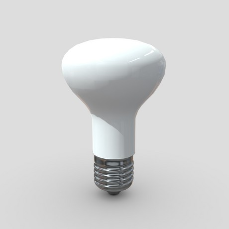 Light Bulb 4 - low poly PBR 3d model