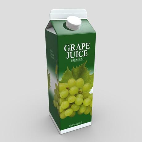 Grape Juice 2 - low poly PBR 3d model