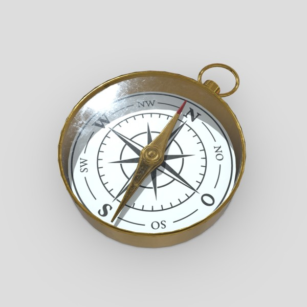 Compass - low poly PBR 3d model