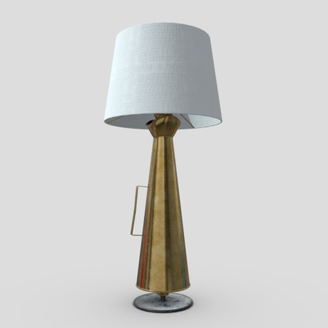 Megaphone Lamp - low poly PBR 3d model