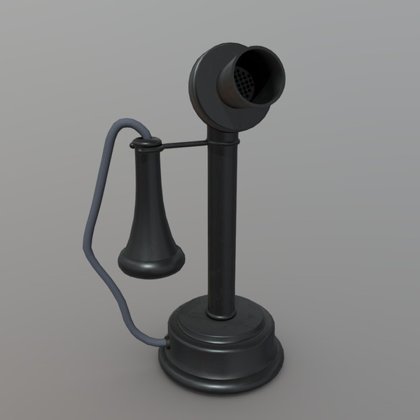Old Phone - low poly PBR 3d model
