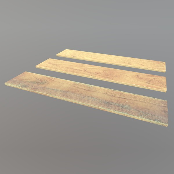 Plank - low poly PBR 3d model