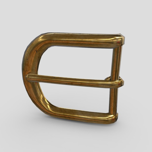 Buckle 3 - low poly PBR 3d model