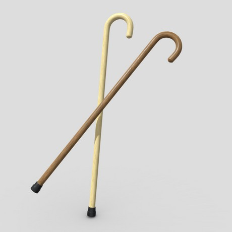 Walking Stick - low poly PBR 3d model