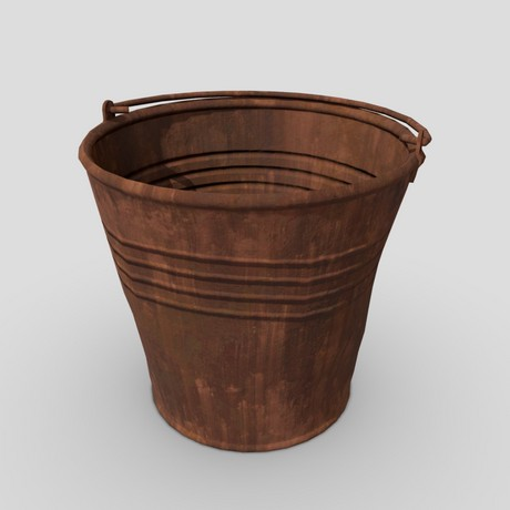 Bucket 2 - low poly PBR 3d mode
