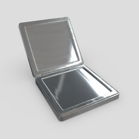 CC0 - Cosmetic Mirror 3 - low poly PBR 3d model