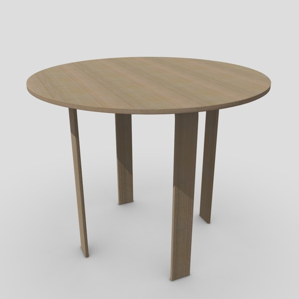 Table 4 - low poly PBR 3d model