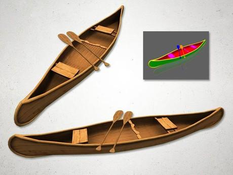 Canoe - 3D Model