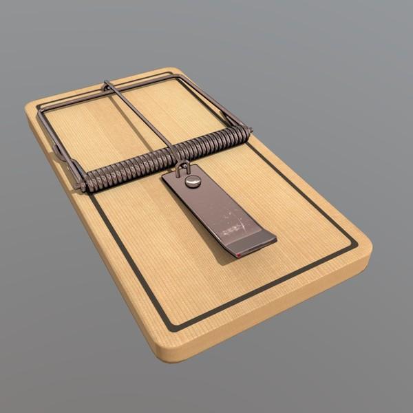 Mousetrap - low poly PBR 3d model