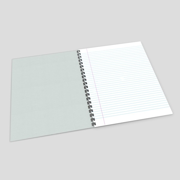 Notebook - low poly PBR 3d model