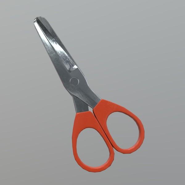 Scissors 5 - low poly PBR 3d model