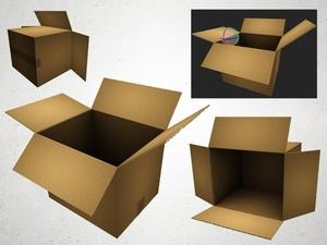 Cardboard Box - 3D Model