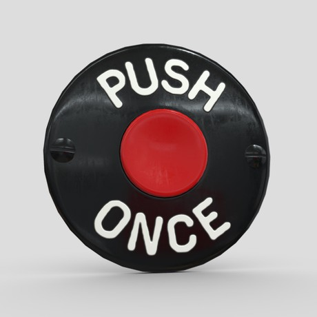 Push Once Button - low poly PBR 3d model