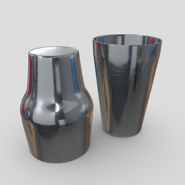 Cocktail Shaker Open 2 - low poly PBR 3d model