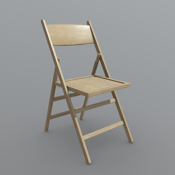 Folding Chair - low poly PBR 3d model