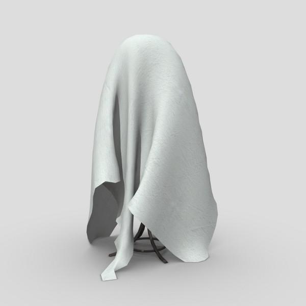 Coat Hanger Cover - low poly PBR 3d model