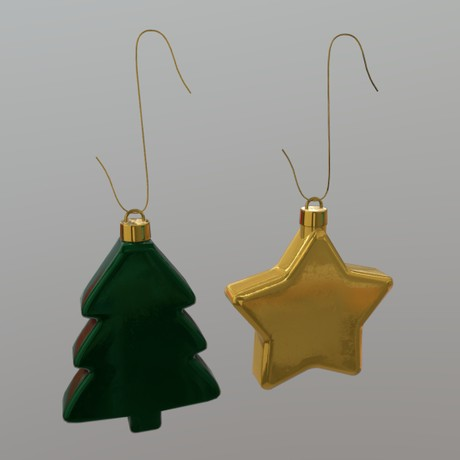 Christmas Bauble 2 - low poly PBR 3d model