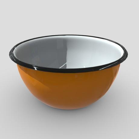 Enamel Bowl 2 - low poly PBR 3d model