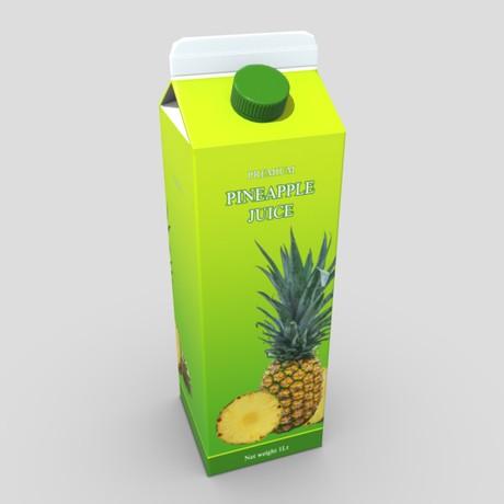 Pineapple Juice - low poly PBR 3d model