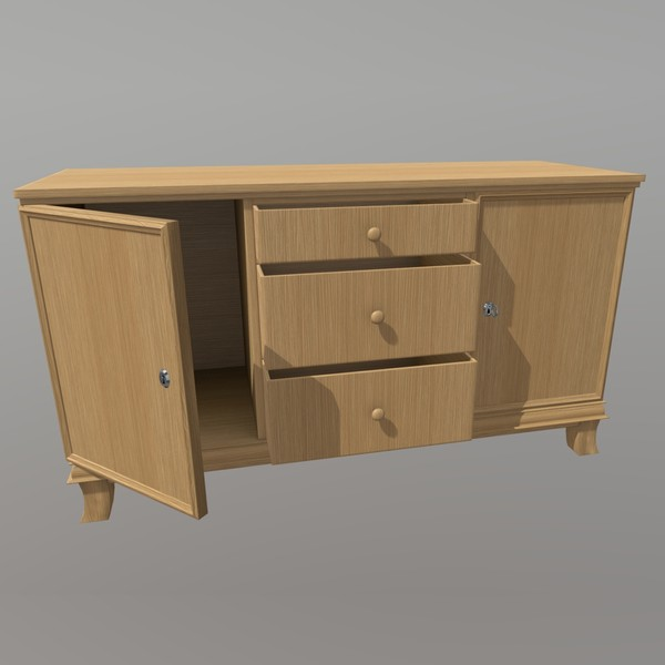 Cabinet - low poly PBR 3d model