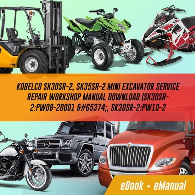 Kobelco SK30SR-2, SK35SR-2 Mini Excavator Service Repair Workshop Manual  Download