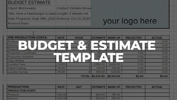 BUDGET & ESTIMATE TEMPLATE