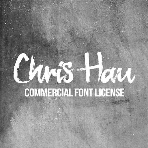 Chris Hau Brush Font - Commercial