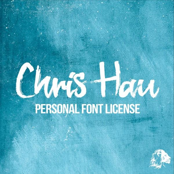 Chris Hau Brush Font - Personal