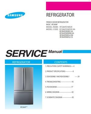 Samsung RF26HFENDBC RF26HFENDWW RF26HFENDSL RF26HFENDSL RF26HFENDSR Service Manual
