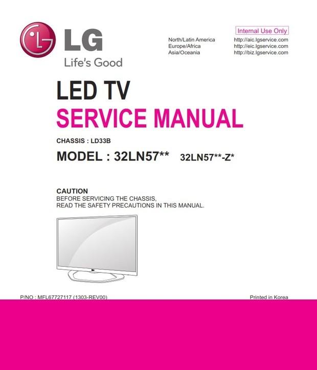 LG 32LN575V Original Service Manual and Repair Guide
