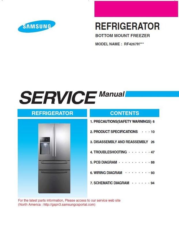 Samsung RF4267HARS RF4267HAWP RF4267HABP Service Manual