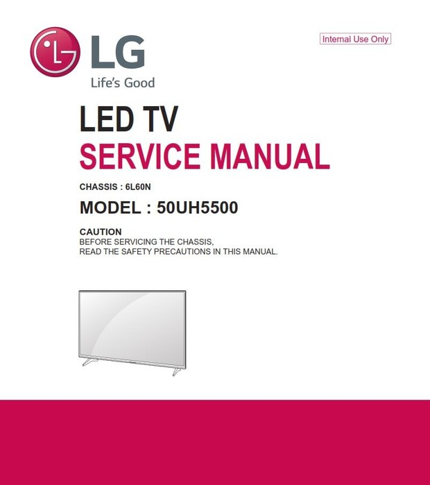 lg 50uh5500: 4k smart led tv service manual + schemati - serviceandrepair