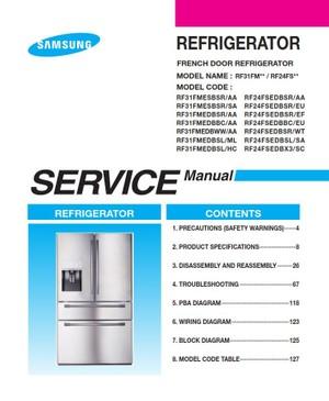 Samsung RF31FMESBSR RF31FMEDBSR RF31FMEDBBC RF31FMEDBWW RF31FMEDBSL Service Manual