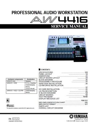 Yamaha AW4416 Service Manual & Troubleshooting Guide