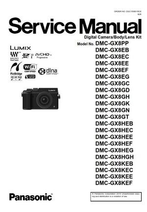 Panasonic Lumix DMC GX8 Service Manual & Repair Instructions