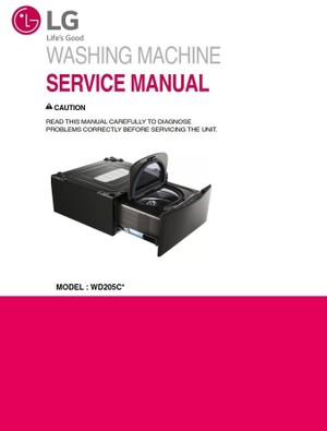 LG WD205CK Side kick washer Service Manual & Troubleshooting Guide