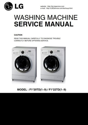 LG F1222TD Washing Machine Service Manual & Troubleshooting Guide