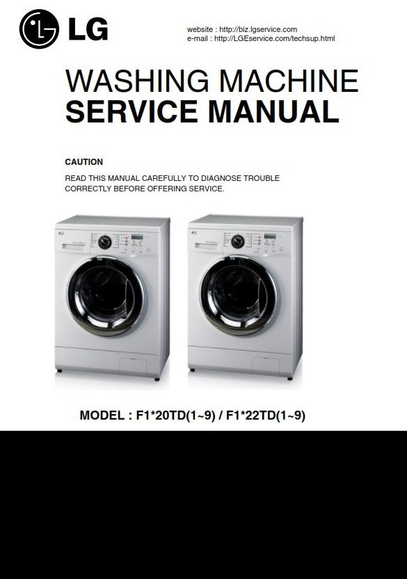 LG F1222TD Washing Machine Service Manual & Troubleshooting Guide