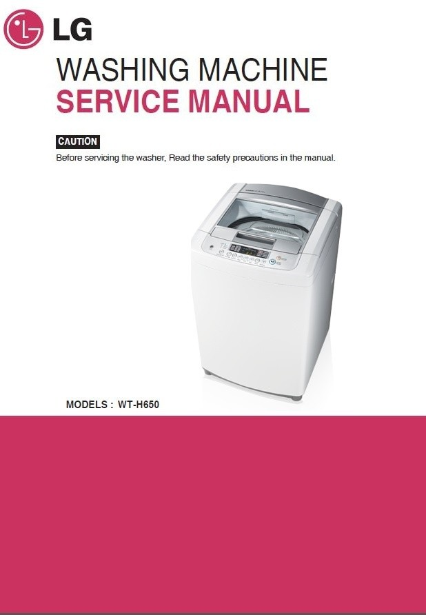 LG WT H650 Washing Machine Service Manual and Repair Instructions
