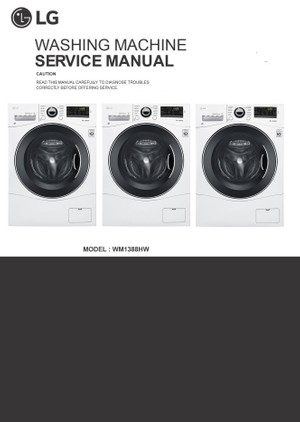 LG WM1388HW Washing Machine Service Manual